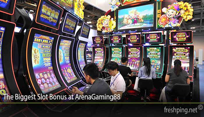 The Biggest Slot Bonus at ArenaGaming88